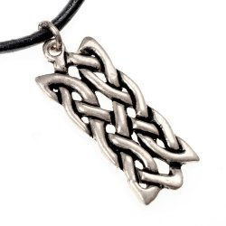 Celtic knot charm - silver plated