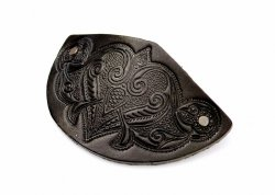 Leather Barrette Motif 3: Medieval