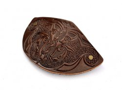 Leather Barrette Motif 4: Arabesque