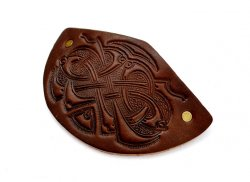 Leather Barrette Motif 5: Celtic