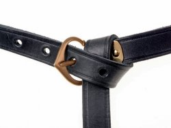 Medieval leather belt - black