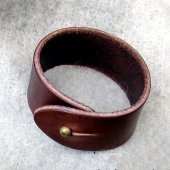 Leather Wristband - 3 cm