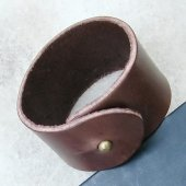 Leather Wristband - fastening