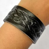 Leather Wristband in 3 cm - Celtic