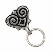 Viking mount with ring - silver plated
