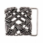 Buckle Celtic dogs - silver color
