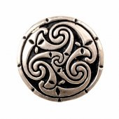 Celtic disc brooch - silver plated