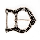 Gotland Viking buckle - silver plated