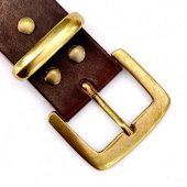 Classic leather belt - 4 cm