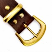 Classical leather belt in 4 cm
