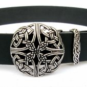 Buckle belt with celtic knot - silver