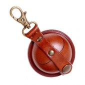Round hard leather purse