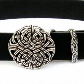 Buckle belt with celtic knot