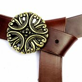 Larp-Belt with floral Buckle