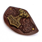 Leather barrette Motiv: Mjoelnir