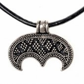 Lunula amulet - silver plated