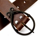 Medieval leather belt - iron buckle