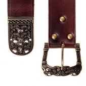 Viking belt with strap end