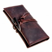Vintage Tobacco Wallet with toggle