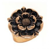Fingerring Tudor Rose - Bronze