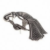 Vendel raven fitting - silver plated