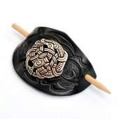 Leather Barrette Motif: Viking