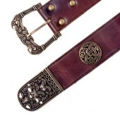 Viking belt with studs and strap end