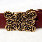 "Split Leather Belt ""Serpents"" - 3 cm"